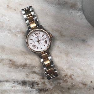 Fossil Silver and rose gold watch